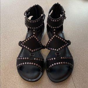 Madeline Black Studded Sandals